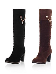 Suede Women's Chunky Heel  Riding Boots Knee High Boots (More Colors)