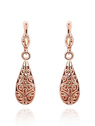 Lucky Doll Women's 18k Gold Vintage Cut Out Earrings