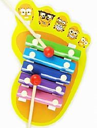 Kinderen Houten Voeten Shape Hand Gamut Knock Voice Musical voor Educatief speelgoed