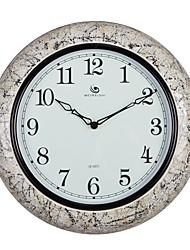 "15.2 ""Modern Style H Teste padrão de mármore branco Polyresin Relógio de parede"