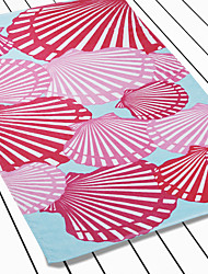 """Red Shell Pattern Cotton Beach Towel 28"""" * 60""""L"""