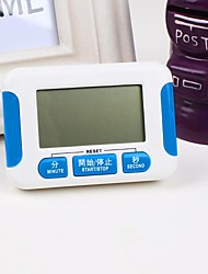 Plástico La cocina Gran Pantalla Eletronic Timer, 8x5.5x1.8cm