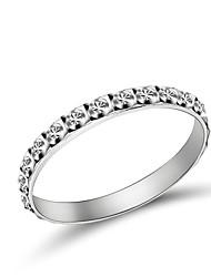 Alliances Mariage / Soirée / Quotidien / Décontracté Bijoux Argent sterling Couple Couple de Bagues5 / 6 / 7 / 8 / 9 / 10 / 11 / 12 / 8½