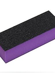1pcs bloc tampon de haute qualité pour le polissage et le ponçage des outils de manucure de bricolage (couleur aléatoire)