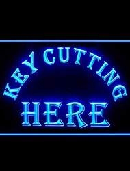 Key Cutting Here Advertising LED Light Sign