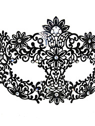 Floral partten Black Metal Halloween Masquerade Mask