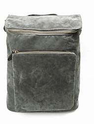 Unisex's New Vintage Swede Leather Book School Bag Travel Sports Camping Backpack