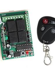Módulo de relé 12v 4 canais sem fio remoto de energia com controle remoto (dc 14v)