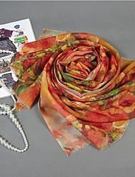 belle peinture de fleurs de style laine mariage / occasion spéciale châle des femmes (une seule couleur)