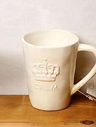 taza de café del estilo exótico torre Eiffel alivio cerámica patrón aleatorio, 8.5x7x11cm