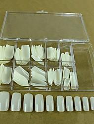 10x10pcs tamanho mixs dicas naturais de arte cheia de unhas