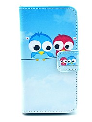 patrón lindo búho PU Leather Case Full Body COCO FUN ® con protectores de pantalla, Stand and Stylus para iPhone 4/4S