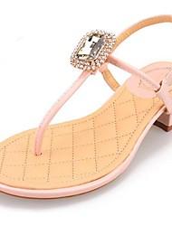 Sandálias ( Rosa/Branco ) - MULHERES Chinelos - Salto Largo - Couro Envernizado