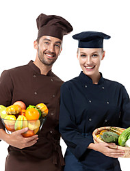 restaurant uniformen dark navy 3/4 mouw chef lagen met double-breasted knoppen