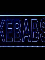 Kebabs Food Promotion Green Blue Red White Orange Purple Yellow Advertising LED Light Sign