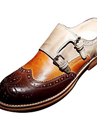Leather Men's Low Heel Comfort Loafers Shoes