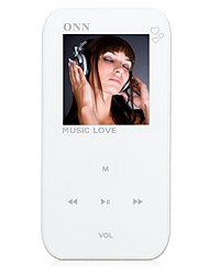 "ONN Q2 Ultra-Slim 1.5"" Screen MP3 Player with Recording FM -White(4GB)"