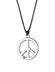 Fashion Stainless Steel Peace Symbol Pendant Necklace  Christmas Gifts
