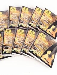 SC12 argenté nylon cordes de guitare classique 10pcs
