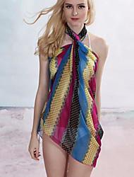 Coloré élégant impression de mousseline de soie de serviette de plage Cover-up des femmes