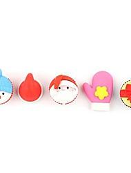 kerst cadeau santa herten sneeuw man vorm gum rubber set (5-pack)