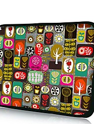 Elonno All Kinds of Flowers Neoprene Laptop Sleeve Case Bag Pouch Cover for 10'' Dell HP iPad1/2/3/4/5