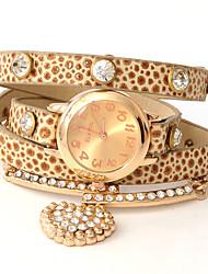 cuoio osare u moda punk diamantato elegante orologio catena