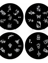 1PCS Nail Art Stamp Stamping Image Template Plate B Series NO.29-32(Assorted Pattern)
