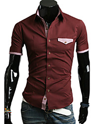 Debe Men's  Check Sleeve Shirt