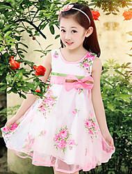 bb&été nouveau mode b 2014 de la fille rose grande robe de princesse de bord