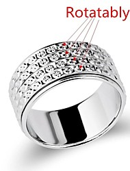 Rotatable Fashion Starry Unisex S925 Silver Couple Ring