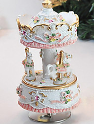 My Heart Will Go On Merry Go Round Music Box with Light (White)