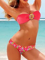 Venus Queen Frauen Strass Bateau bunten Bikini VQ00248