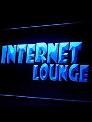 Internet-Lounge Werbung LED-Licht Anmelden