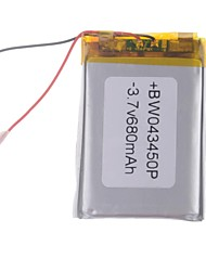 3.7V 680mAh Lithium Polymer Battery for Cellphones  MP3  MP4 (4*34*50)