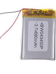 3.7V 680mAh Lithium Polymer Batterie pour les téléphones portables MP3 MP4 (4 * 34 * 50)