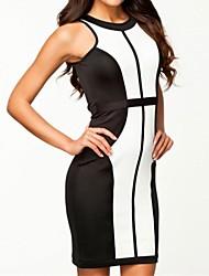 Vogue clásico bloque delgado Vestido ajustado de la Mujer
