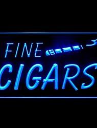 Enseigne lumineuse cigares fins publicitaires conduit