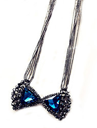Meet You Bowknot Shaped Necklace Inlaid With Austrian Rhinestone