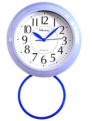 "Telesonic™ 7""H  Brief Style Precision Waterproof Bathroom`s Taxiing Mute Wall Clock"
