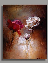 Modern Flower Oil Painting with Stretched Frame Ready to Hang Hand-Painted Canvas