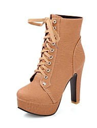 Women's High Chunky Heel  Fashion Boots  Ankle Boots (More Colors)