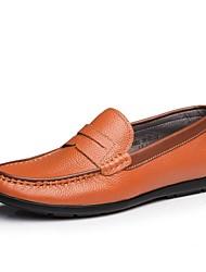 CEEN мужская кожаная плоские пятки бездельников обувь