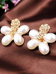 Lucky Doll Women's Gold Flower Earrings