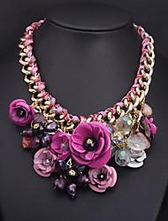 Frauen Europa und die Vereinigten Staaten Edelstein Halskette Farbe Blume