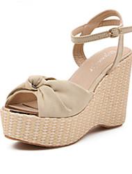 IPIEN Bowknot Slipsole Leisure Sandal (Beige)