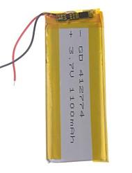 3.7V 1100mAh Lithium Polymer Batterie pour les téléphones portables MP3 MP4 (41 * 27 * 74)