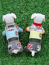 British Union Jack with Belt Legs Pet Clothes(Assorted Size,Random  Color)