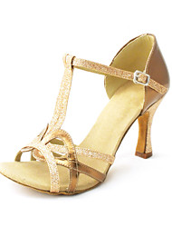 Customized Women's Leatherette Upper Latin Dance Shoes Sandals With Buckie