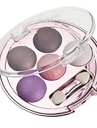 Pro 5 Color Shining Warm Earth Eyeshadow Cosmetic Makeup Palette with Eye Brush(7 Styles 35Color)